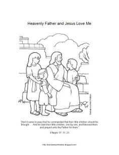 Lesson 6: Heavenly Father and Jesus Christ Love Me - Allow the children to color the picture