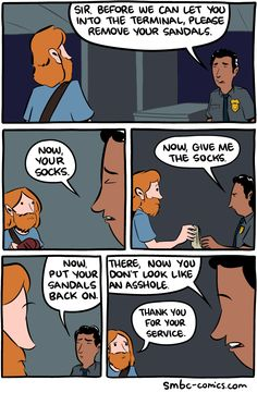 "Saturday Morning Breakfast Cereal: ""I'm just saying: TSA, you could be so much more."""