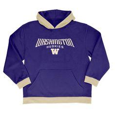 NCAA Boys' All Star Pullover Poly Hoodie Hooded Sweatshirt Washington Huskies - L, Multicolored
