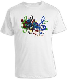 Image detail for -5583 - Music Notes T-Shirt - Master Design Decals