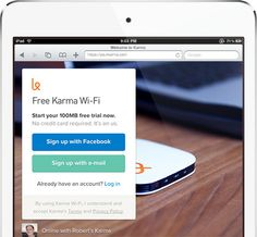WiFi Made for Sharing. Earn FREE data when someone joins your Karma hotspot. Now that's good karma.  Anyone have this/recommend it?