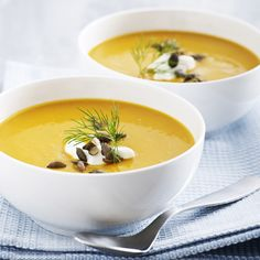 Græskarsuppe med appelsin & ingefær