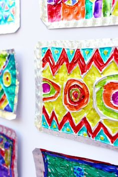 Folk art project for kids: hojalata (tin) art art for kids п Fun Crafts, Crafts For Kids, Arts And Crafts, Projects For Kids, Art Projects, Simple Art, Easy Art, Art Tumblr, Tin Art
