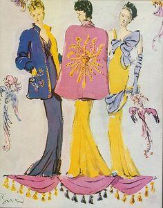 Christian Berard, Elsa Schiaparelli, 1930's