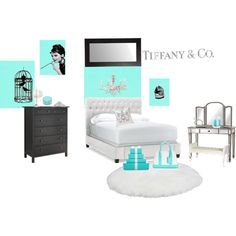 """""""Breakfast at Tiffany's (& Co.) Dream Bedroom"""" by lillianrose on Polyvore"""