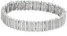 "Sterling Silver 2 Cttw Rose Cut Diamond Bracelet, 7.5"" -- See this awesome product @ http://www.amazon.com/gp/product/B008CNYAQM/?tag=splendidjewelry07-20&puv=170716060621"