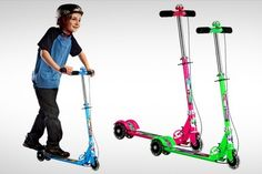 Just Rs.799 for a Kids Scooter. Choose from 3 Colors Offer 1: Blue Offer 2: Pink Offer 3: Green Features: Scooter body made of high quality aluminum Front and handlebars made of high-grade steel Rear friction brake Secure fold up mechanism Free delivery across India Inclusive of all taxes and service charges
