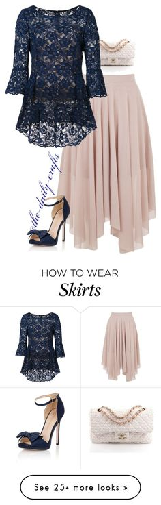 """Untitled #243"" by the-daily-crafts on Polyvore featuring Topshop, Chanel, Oscar de la Renta and Little Mistress"