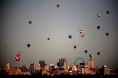 Great Balloon Race in Forest Park St. Louis / http://www.greatforestparkballoonrace.com/
