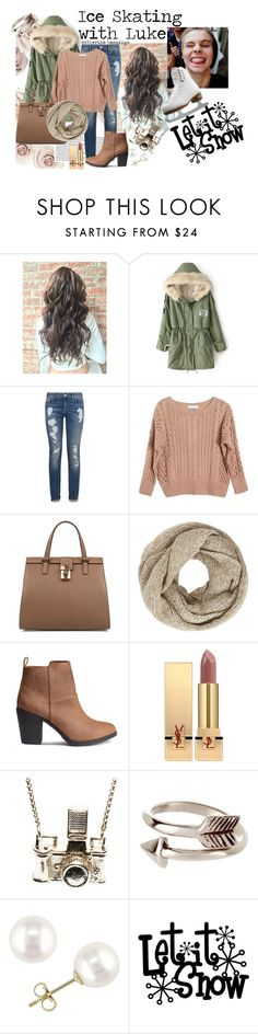 """""""Ice Skating with Luke by catherine-hemmings"""" by catherine-hemmings ❤ liked on Polyvore featuring Tommy Hilfiger, Ryan Roche, Dolce&Gabbana, John Lewis, Yves Saint Laurent, Kiel Mead Studio, Miadora and Riedell"""
