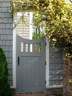 Defining Your Home, Garden and Travel: One of my garden gates - leads from cottage garden to waterfall patio garden. Wooden Garden Gate, Garden Gates And Fencing, Wooden Gates, Garden Doors, Garden Walls, Timber Gates, Fence Gates, Tor Design, Fence Design