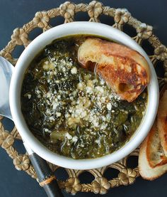 Zuppa Verde: Italian farmhouse cooking at its finest. #recipe