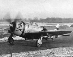 P-47D Thunderbolt of the 353rd Fighter Squadron flown by Major Glenn T. Eagleston Squadron Commanding Officer and top ace of 9th Air Force with 18.5 kills Rosieres en Haye Airbase France February 1945.