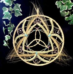 Triple Goddess Lammas wheel .
