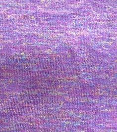 Fashion Voyage Collection- Heathered Multi Sweater Knit Purple FabricFashion Voyage Collection- Heathered Multi Sweater Knit Purple Fabric,