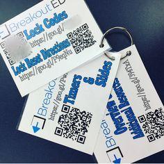 Breakout EDU Box Organizer Cards Teaching Technology, Teaching Science, Qr Codes, Breakout Edu Games, Escape Room Design, Escape Room Challenge, Breakout Boxes, Escape Room Puzzles, Stem Classes