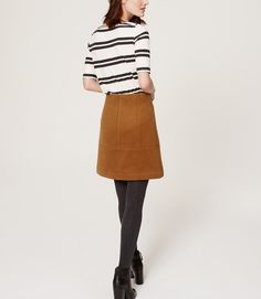 Wooly Shift Skirt