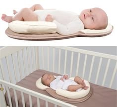 Newborn Baby Defensive Head Stereotypes Pillow to Prevent Children to Turn the Mattress, Correct Newborn Baby Pillow for the Bed