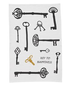 Take a look at this 'Key to Happiness' Printed Dish Towel by Park Designs on #zulily today!