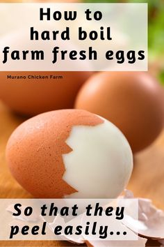 Fresh Chicken, Chicken Eggs, Hard Boil Fresh Eggs, Egg Recipes, Chicken Recipes, Recipies, Cooking Tips, Cooking Recipes, Egg Dish