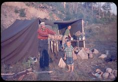 .1950s camping.