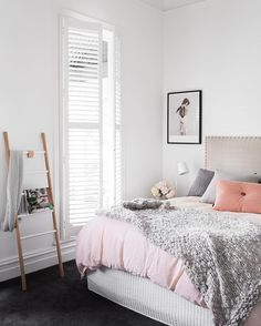 On the blog today, I've posted a few unseen pics from Julia and Sasha's Melbourne home which features in our new Aloha edition. Just love the soft colour palette in this bedroom. See more pics on the blog: www.adoremagazine.com/blog Interior: @showponyinteriors  Styling: @aimeestylist  @gemmola
