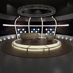 Buy Virtual TV Studio Chat Set 20 by on Virtual TV Studio Chat Set 20 Virtual sets that are required for any modern show for TV channels. Tv Set Design, Stage Design, 3d Design, Studio Design, Homemade Xmas Decorations, Virtual Studio, 3d Interior Design, Stage Set, News Studio
