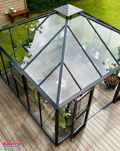 Urban Oasis Pavilion Greenhouse can be used as a greenhouse or greenhouse-sitting room combination, enjoy your private garden sanctuary and escape the world anytime you wish. Learn to plant seedlings earlier than you'd think, and extend gardening further into fall and winter. The Juliana Urban Oasis attractive glass panels and black accents allow it to be placed front and center in your yard or off to the side for more privacy.