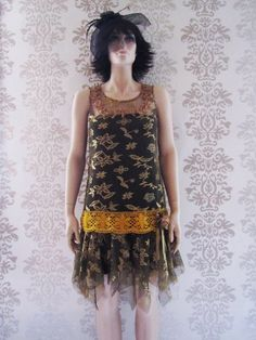 Party Dress Flapper Woman Clothing Holiday Fashion by FoldedRoses, $169.00