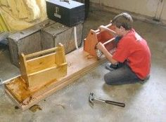 A Woodworking Project For Kids - A Tool Box Gift For Dad