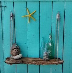 Driftwood Hanging Shelf by SaltyRiverDogs on Etsy