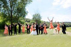 Wedding on the grounds/gardens @ Justin Trails Resort near Sparta WI www.justintrails.com