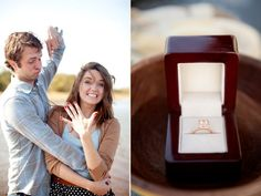 love this engagement picture.