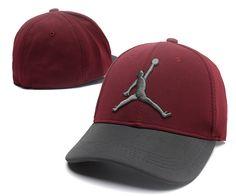 61aabfca894 Men s   Women s Air Jordan The Jumpman 3D Logo Flexfit Dad Hat - Maroon    Charcoal