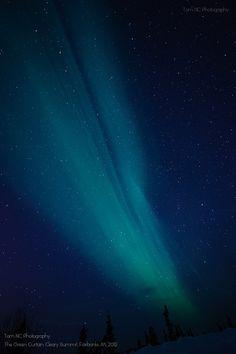Northern Lights above Mt. Aurora Skiland, Fairbanks, Alaska
