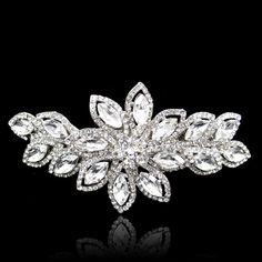 Gorgeous Bridal Flower Swarovski Crystal Hair Clip, Wedding Hair Clip, Wedding Accessories, Bridesmaid Jewelry-157420865