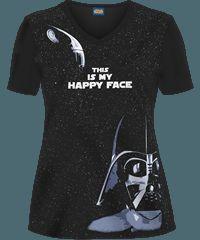 yes I will wear this to work Cherokee, Medical Scrubs, Nursing Scrubs, Pediatric Nursing, Disney And More, Scrub Tops, Star Wars, Darth Vader, T Shirts For Women