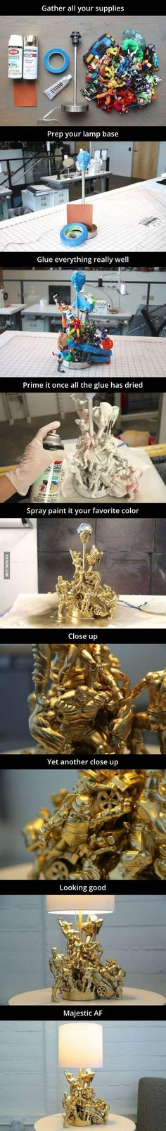 Make your old toys into a lamp. - 9GAG