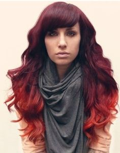 Marianne- you should do this!!! Violet and red ombre hair colors. I always thought ombre was a bit overdone, but this is awesome