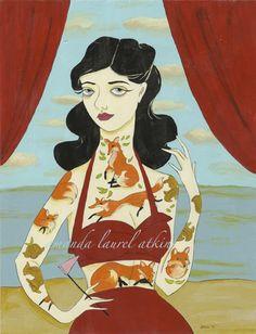 """tenderfoot (too gentle for your predisposition)""  acrylic on masonite  c Amanda Laurel Atkins 2010"