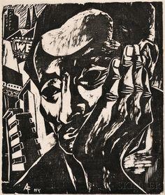 Antonio Frasconi, Self Portrait New York