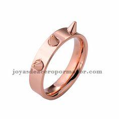 anillo de rosado estilo punk en acero inoxidable -SSRGG971697