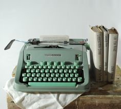 love vintage typewriters - especially this colour!