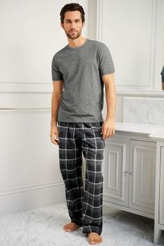 Palatial looking home interiors are beyond most us just now, but appearing in nightwear as premium as this is a piece of cake with our next day delivery! Cute Sleepwear, Mens Sleepwear, Sleep Men, Male Outfits, Husband Gifts, Barefoot Men, Casual Wear For Men, Male Feet, Muji