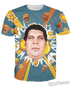 Andre the Giant T-Shirt - RageOn! - The World's Largest All-Over-Print Online Store