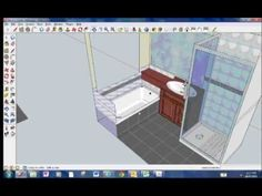 Tiling with sketchup Sketch Up Architecture, Architecture Design, Sketchup Rendering, 3d Rendering, Google Sketchup, 3d Interior Design, 3d Printer Supplies, Woodworking Bed, Design Agency