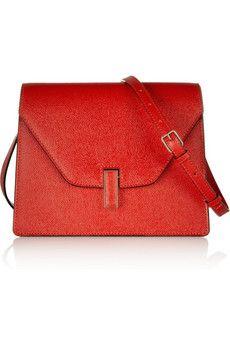 Valextra Iris textured-leather shoulder bag