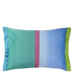 Okumi Emerald Throw Pillow | Designers Guild
