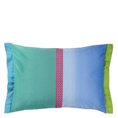 Okumi Emerald Throw Pillow | Designers Guild