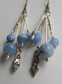 Blue Goddess Earrings